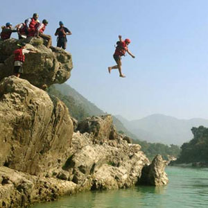 Cliff Jumping from Aspen Adventures Camp