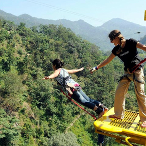 Bungee Jumping from Camp Aquaforest Rishikesh